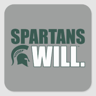 Spartans Will Square Sticker