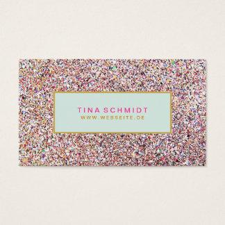 Spaß Bunte Glitzer Visitenkarte Business Card