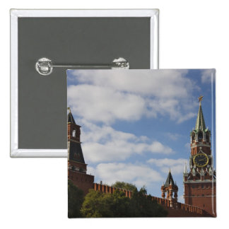 Spasskaya Tower in Red Square, Moscow, Russia Button