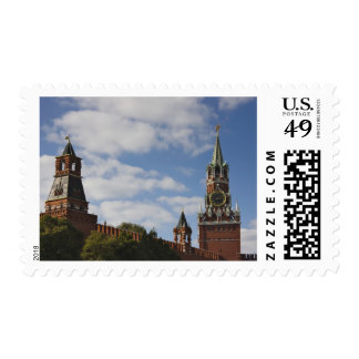 Spasskaya Tower in Red Square, Moscow, Russia Postage Stamp