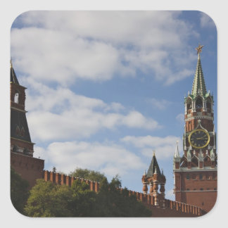 Spasskaya Tower in Red Square, Moscow, Russia Square Sticker