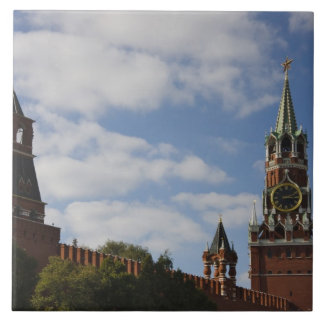 Spasskaya Tower in Red Square, Moscow, Russia Tile