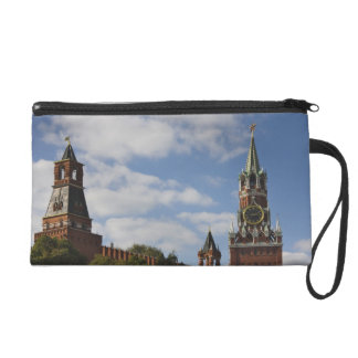 Spasskaya Tower in Red Square, Moscow, Russia Wristlet Purse