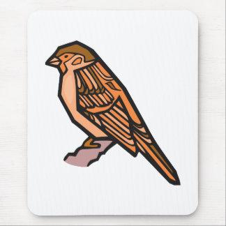 Spat Sparrow Mouse Pad