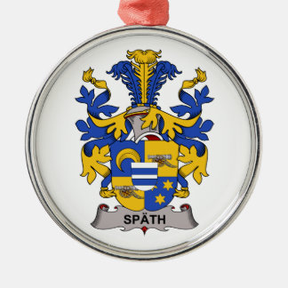Spath Family Crest Round Metal Christmas Ornament