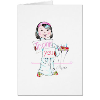 Spa'thday Party Thank You note Stationery Note Card