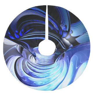 Spatial Distortion Abstract Brushed Polyester Tree Skirt