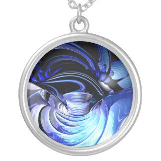 Spatial Distortion Abstract  Necklace