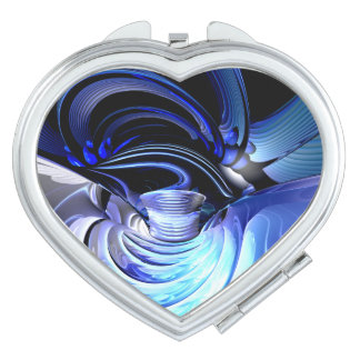 Spatial Distortion Abstract Compact Mirrors