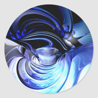 Spatial Distortion Abstract Sticker
