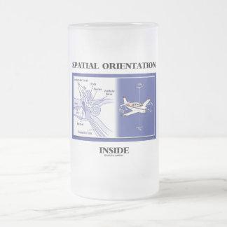 Spatial Orientation Inside (Ear Anatomy Plane) Frosted Glass Beer Mug