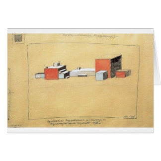 Spatial Suprematism by Kazimir Malevich Card