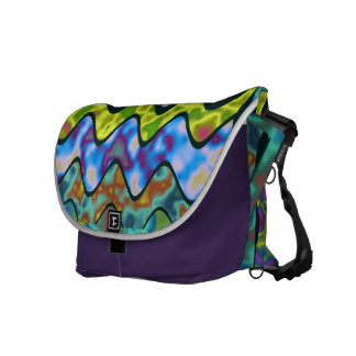 Spatial waves courier bag