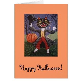Spats the Halloween Cat Card