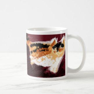 Spatter cat coffee mug