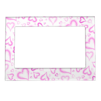 Spatter Hearts All Over Magnetic Photo Frame