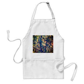 spatter paint design adult apron