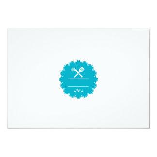 Spatula Flogger Whip Crossed Rosette Retro Card
