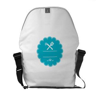 Spatula Flogger Whip Crossed Rosette Retro Messenger Bag