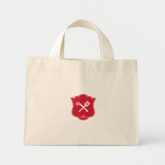 Spatula Flogger Whip Crossed Shield Retro Mini Tote Bag