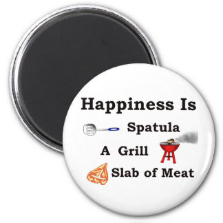 spatula grill and a slab of meat magnet