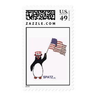 SPATZ WITH AMERICAN FLAG STAMP