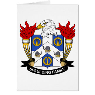 Spaulding Family Crest Card