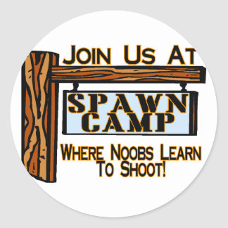 Spawn Camp Classic Round Sticker