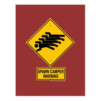 Spawn Camper Warning Sign Postcard