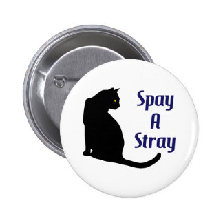 SPAY A STRAY 2 INCH ROUND BUTTON