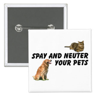 Spay and Neuter 2 Inch Square Button