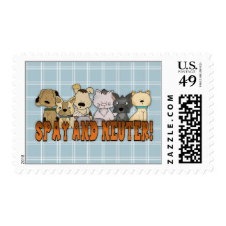 Spay and Neuter Cats and Dogs Postage Stamp