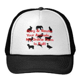 spay and neuter hat