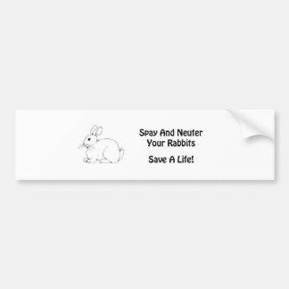 Spay And Neuter Rabbits Bumper Sticker Car Bumper Sticker