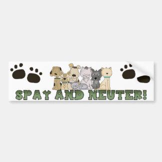 Spay and Neuter Your Pets Bumper Sticker Car Bumper Sticker