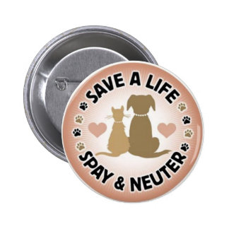 spay and neuter your pets 2 inch round button
