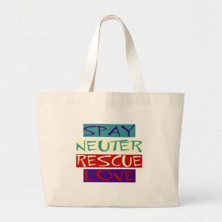 Spay el amor neutral del rescate bolsa