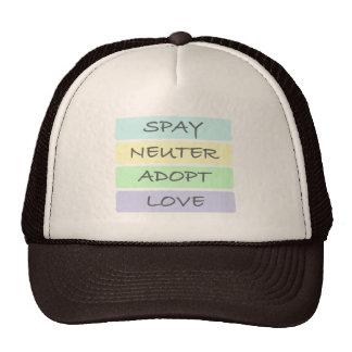 Spay el neutro adoptan amor gorras