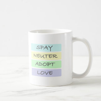Spay el neutro adoptan amor taza