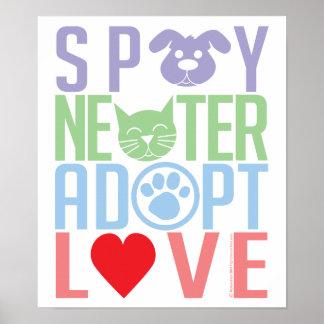 Spay el neutro adoptan el amor 2 póster