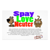 Spay, Love, Neuter Flyer