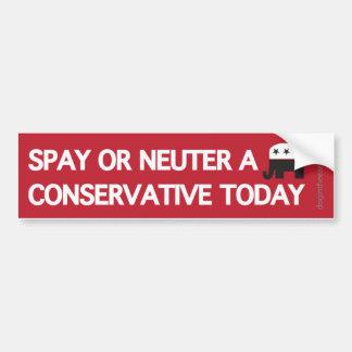 Spay Neuter a Conservative Bumper Sticker