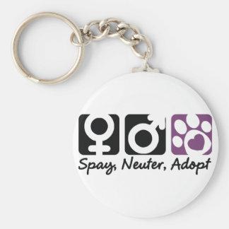 Spay, Neuter, Adopt Basic Round Button Keychain