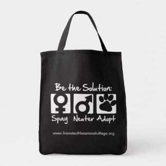 """Spay, Neuter, Adopt"" Grocery Tote Bag"