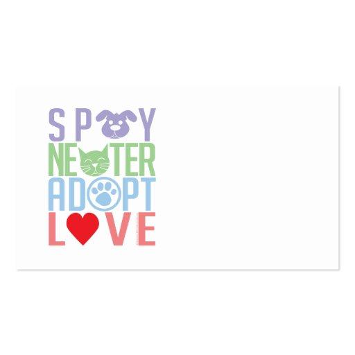 Spay Neuter Adopt Love 2 Business Cards