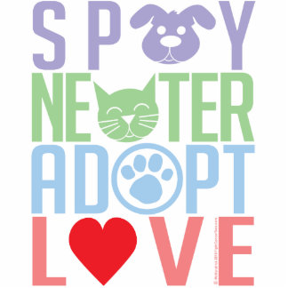 Spay Neuter Adopt Love 2 Cutout