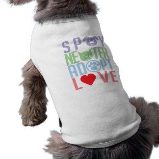 Spay Neuter Adopt Love 2 Dog Tee Shirt