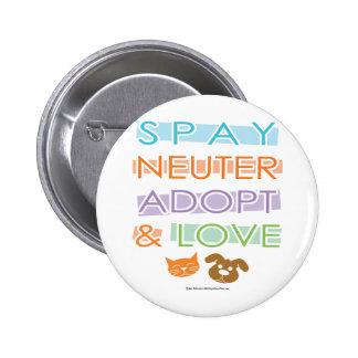 Spay Neuter Adopt Love 2 Inch Round Button