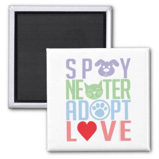 Spay Neuter Adopt Love 2 Magnet