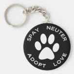 Spay Neuter Adopt Love Keychain